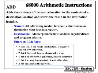 68000 Arithmetic Instructions
