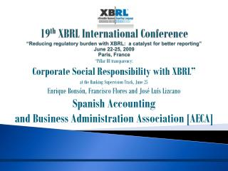 """Pillar III transparency:  Corporate Social Responsibility with XBRL"""