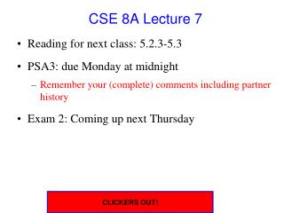 CSE 8A Lecture 7