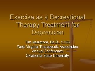 Exercise as a Recreational Therapy Treatment for Depression