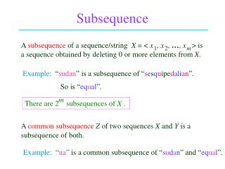 Subsequence