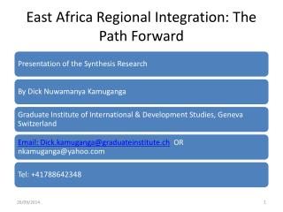 East Africa Regional Integration: The Path Forward