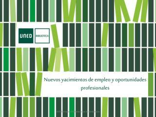 Nuevos yacimientos de empleo y oportunidades  profesionales