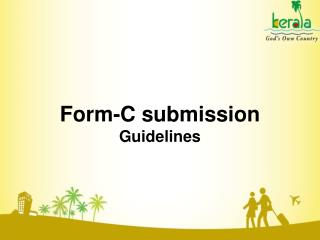 Form-C submission  Guidelines