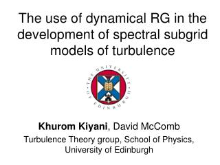 The use of dynamical RG in the development of spectral subgrid models of turbulence