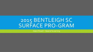 2015 Bentleigh SC Surface Pro- GRam
