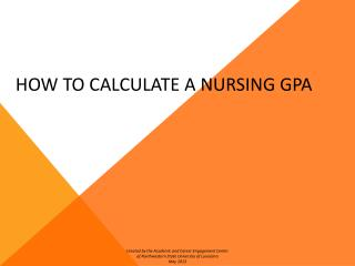 HOW TO CALCULATE A NURSING GPA