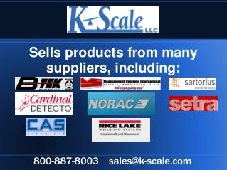 Sells products from many suppliers, including: