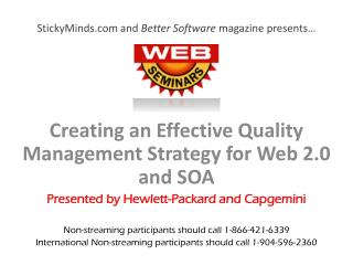 StickyMinds and Better Software magazine presents