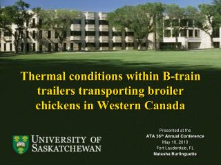 Thermal conditions within B-train trailers transporting broiler chickens in Western Canada