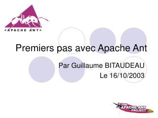 Premiers pas avec Apache Ant