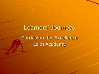 Learners' Journeys