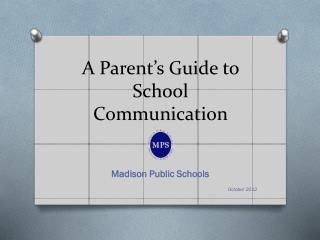 A Parent�s Guide to School Communication