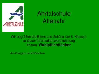 Ahrtalschule Altenahr