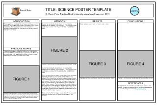 TITLE: SCIENCE POSTER TEMPLATE