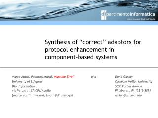 """Synthesis of """"correct"""" adaptors for protocol enhancement in component-based systems"""