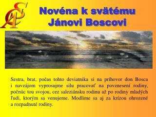 Novéna k svätému Jánovi Boscovi
