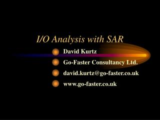I/O Analysis with SAR