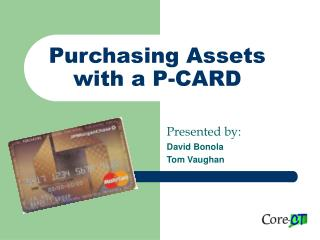 Purchasing Assets with a P-CARD