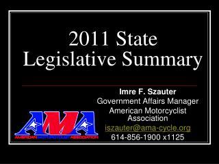 2011 State Legislative Summary