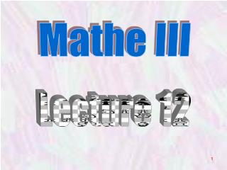 Mathe III