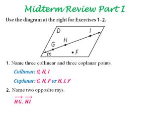 Midterm Review Part I