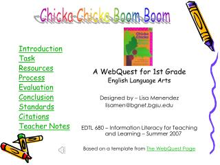 Introduction Task Resources Process Evaluation Conclusion Standards Citations Teacher Notes