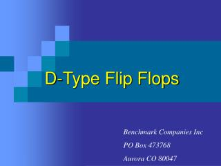 D-Type Flip Flops