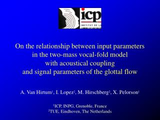 On the relationship between input parameters in the two-mass vocal-fold model