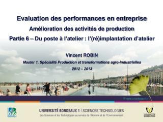 Evaluation des performances en entreprise Amélioration des activités de production