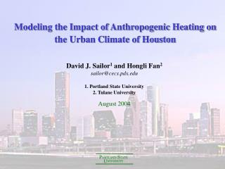 Modeling the Impact of Anthropogenic Heating on the Urban Climate of Houston