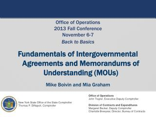 Fundamentals of Intergovernmental Agreements and Memorandums of Understanding (MOUs)