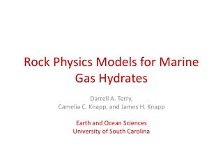 Rock Physics Models for Marine Gas Hydrates