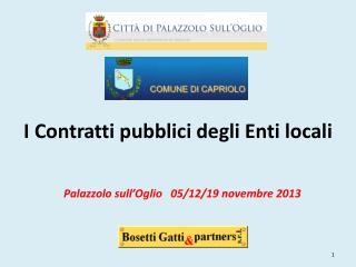 I Contratti  pubblici  degli Enti locali