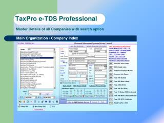 TaxPro e-TDS Professional