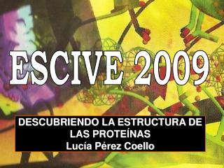 DESCUBRIENDO LA ESTRUCTURA DE LAS PROTEÍNAS  Lucía Pérez Coello