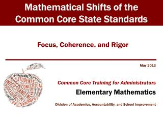Focus, Coherence, and Rigor