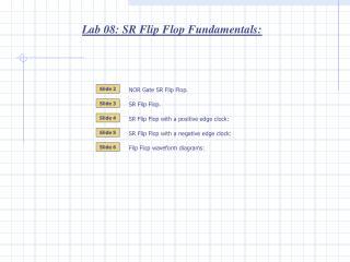 Lab 08: SR Flip Flop Fundamentals: