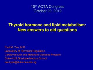 10 th  AOTA Congress October 22, 2012