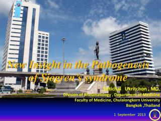 New I nsight  in the  Pathogenesis  of  Sjogren's  syndrome
