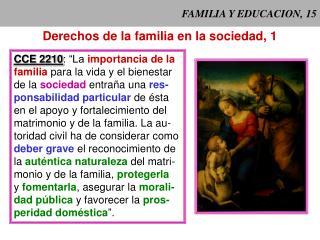 FAMILIA Y EDUCACION, 15