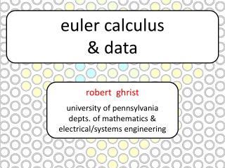 euler  calculus  & data