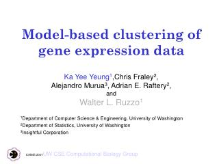 Model-based clustering of gene expression data