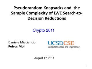 Pseudorandom Knapsacks and  the Sample Complexity of LWE Search-to-Decision Reductions