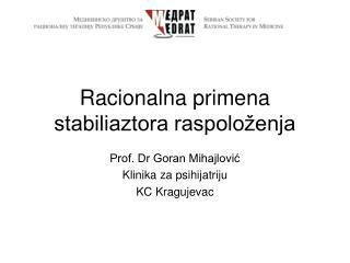 Racionalna primena stabiliaztora raspoloženja