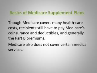 Basics of Medicare Supplement Plans