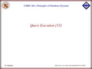 Query Execution [15]