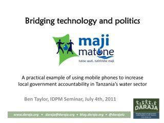 Bridging technology and politics