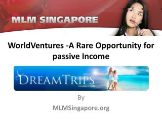 WorldVentures -A Rare Opportunity for passive Income