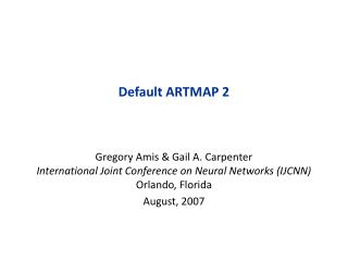 Default ARTMAP 2